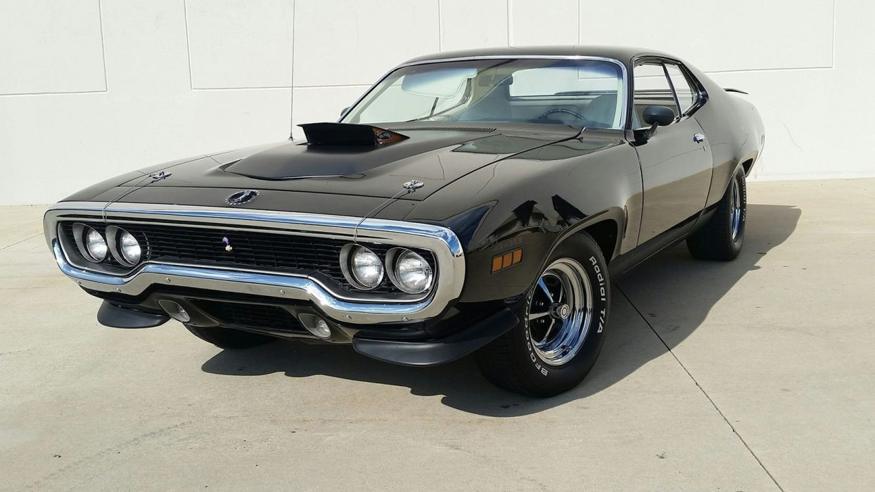 1971 PLYMOUTH ROAD RUNNER cars coupe black wallpaper