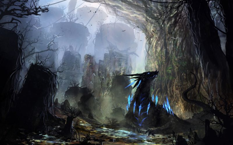 FANTASY art artwork original wallpaper fantastic sci-fi science fiction dark wallpaper