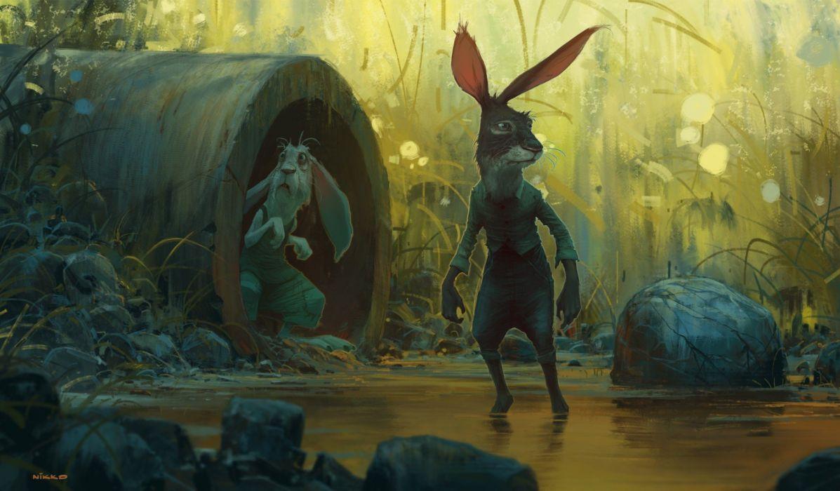 FANTASY art artwork original wallpaper fantastic sci-fi science fiction dark wallpaper