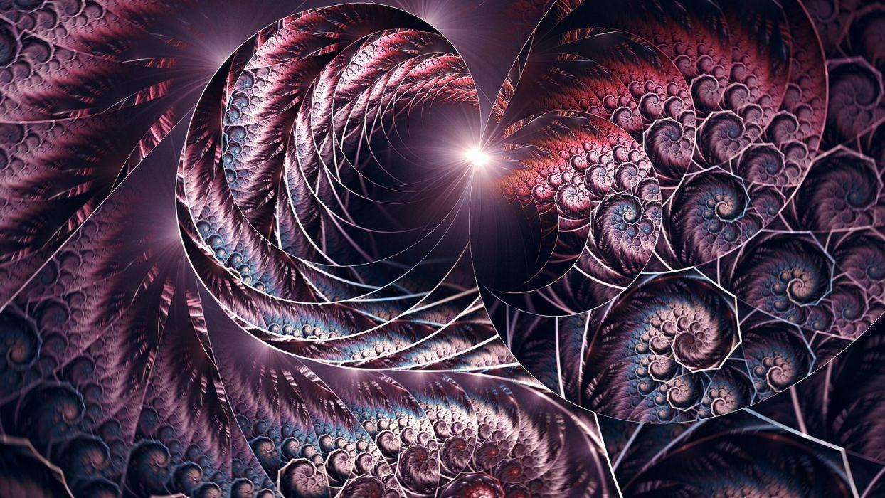 abstracto fractal luz wallpaper