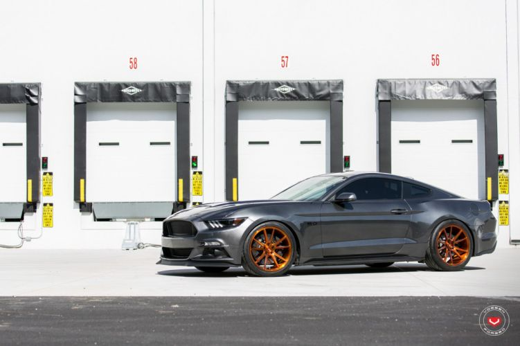 Ford Mustang GT cars Vossen wheels wallpaper