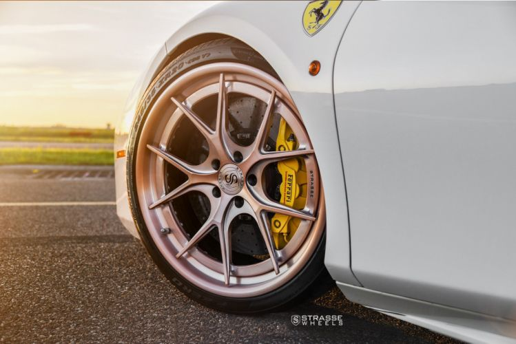 Strasse Wheels Ferrari 488 GTB cars white wallpaper