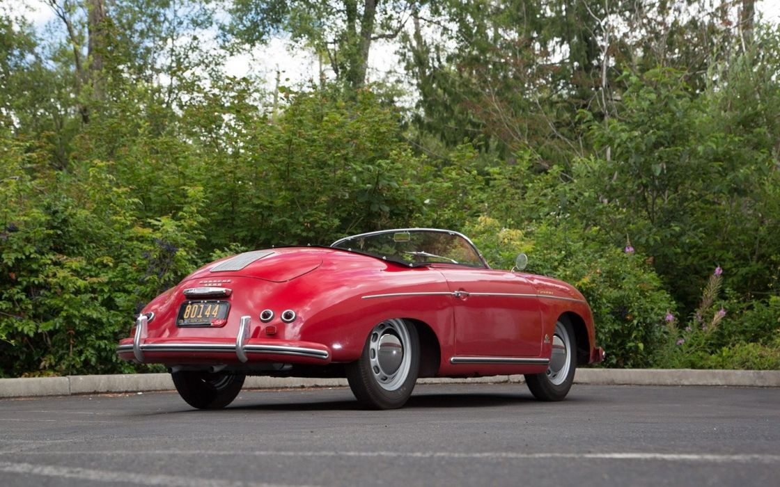 1954 Porsche 356 Speedster Signal Red classic cars wallpaper