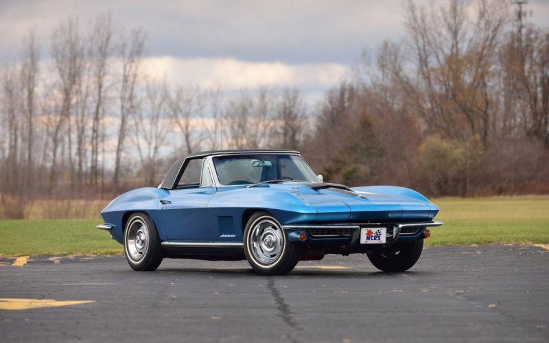 1967 Chevrolet Corvette (c2) Convertible Marina Blue cars classic wallpaper