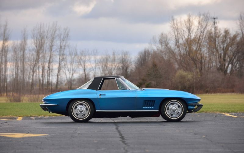 1967 Chevrolet Corvette (c2) Convertible Marina Blue cars classic wallpaper