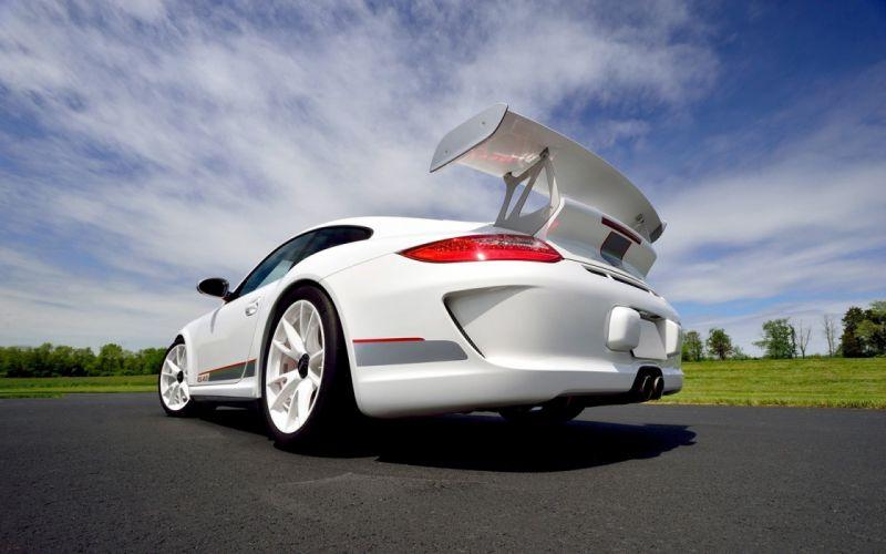 2011 Porsche 911 GT3 RS (4 0) cars White wallpaper