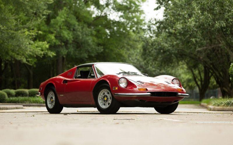 1972 Ferrari Dino 246 GTS cars red classic wallpaper