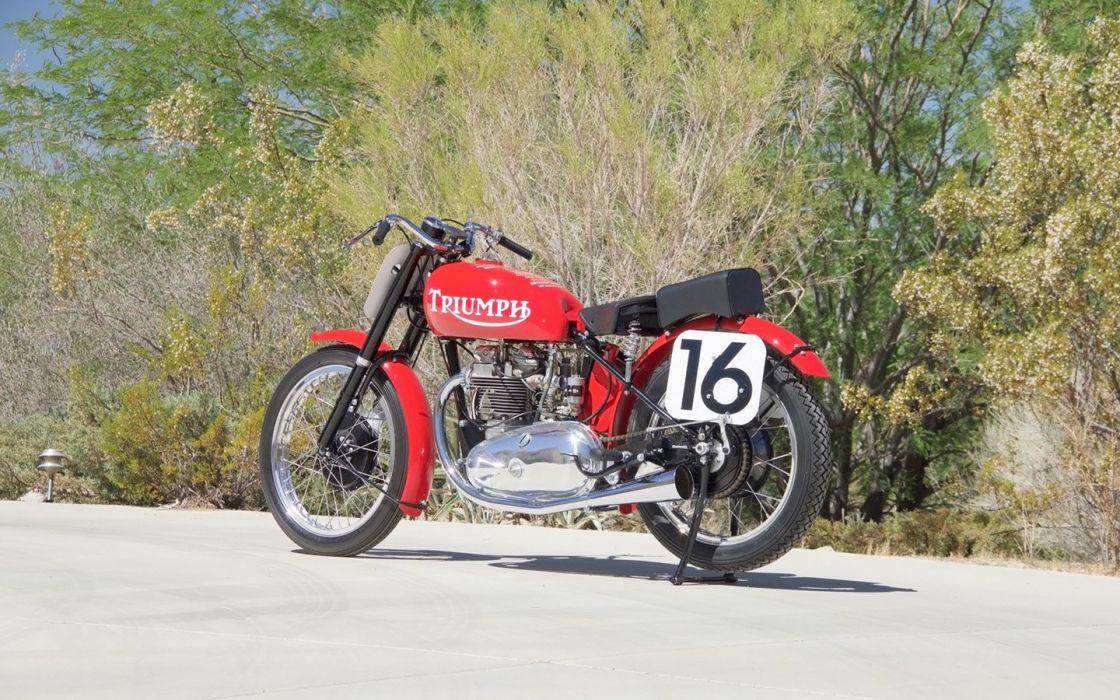 1947 Triumph Grand Prix Racer Motorcycle wallpaper