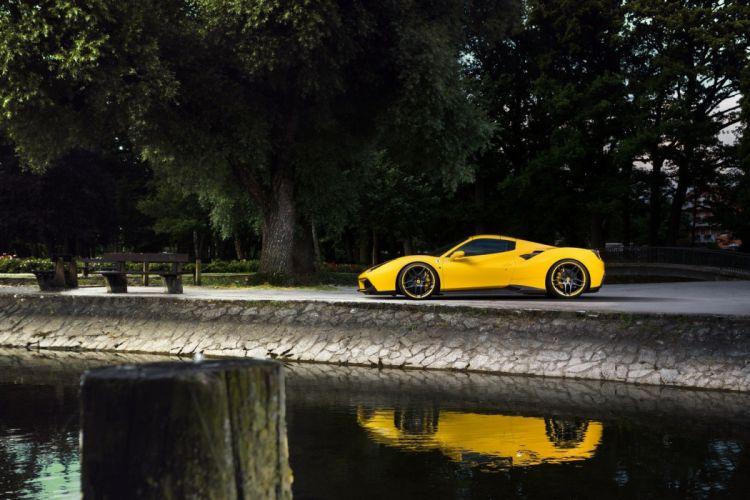2016 Novitec Rosso Ferrari 488 Spider yellow cars modified wallpaper