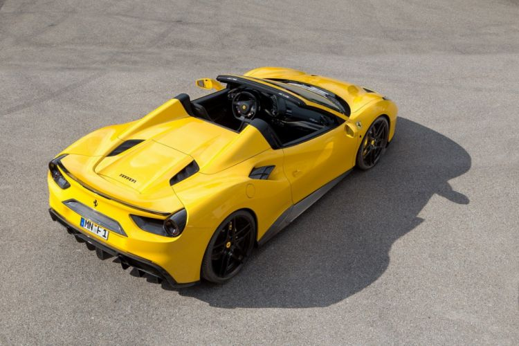 2016 Novitec Rosso Ferrari 488 Spider yellow cars modified wallpaper