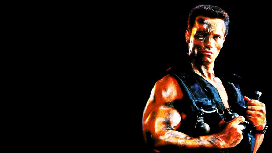 COMMANDO movie action fighting military arnold schwarzenegger soldier special forces adventure thriller movie film warrior fantasy sci-fi futuristic science fiction wallpaper