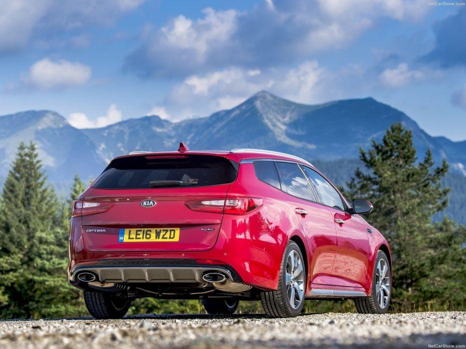 Kia Optima Sports wagon UK-Version cars red 2016 wallpaper