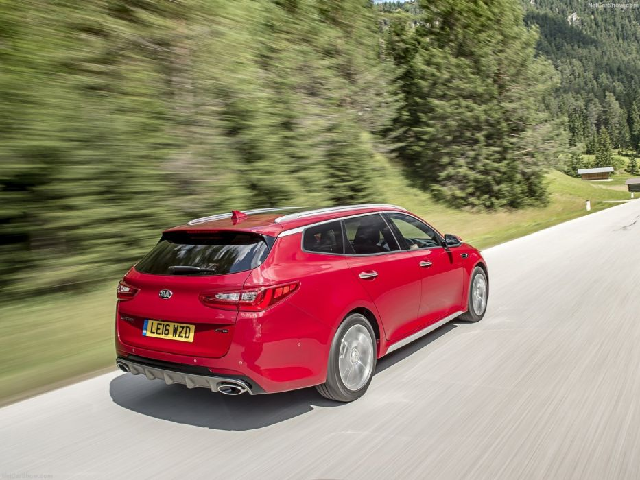 Kia Optima Sports wagon UK-Version cars red 2016 wallpaper