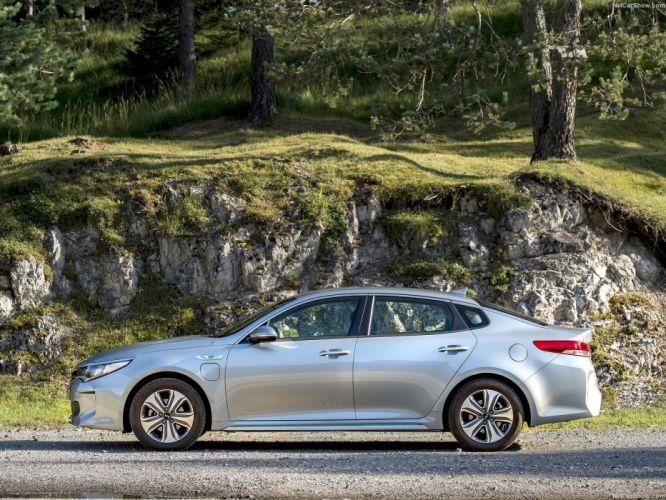 Kia Optima sedan UK-Version cars 2016 PHEV wallpaper
