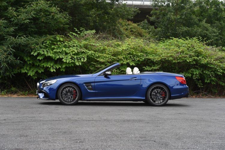 Mercedes AMG SL63 UK-spec (R231)cars roadster blue 2016 wallpaper