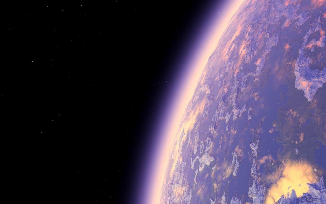 stars atmosphere planets art space render wallpaper