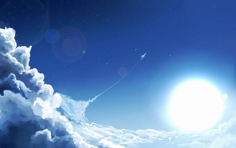 clouds art sky sun plane wallpaper