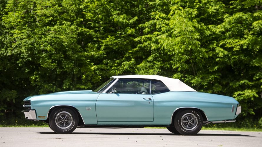 1970 CHEVROLET blue CHEVELLE LS6 CONVERTIBLE cars classic wallpaper