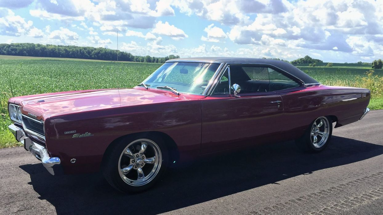 1968 PLYMOUTH SPORT SATELLITE cars red wallpaper