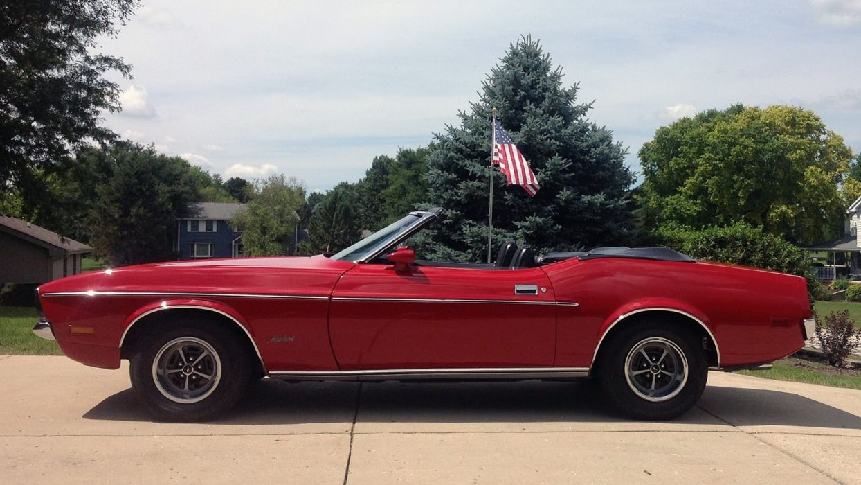 1972 FORD MUSTANG CONVERTIBLE cars red wallpaper