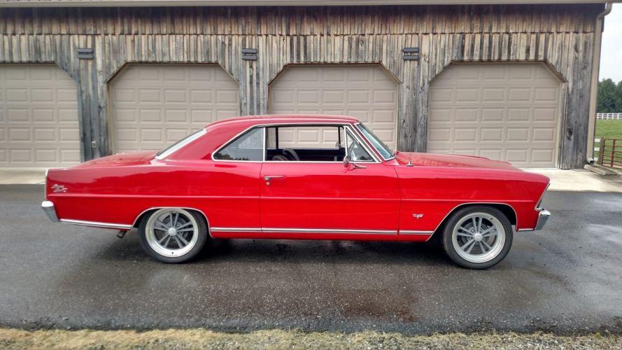 1967 CHEVROLET NOVA SS cars red wallpaper