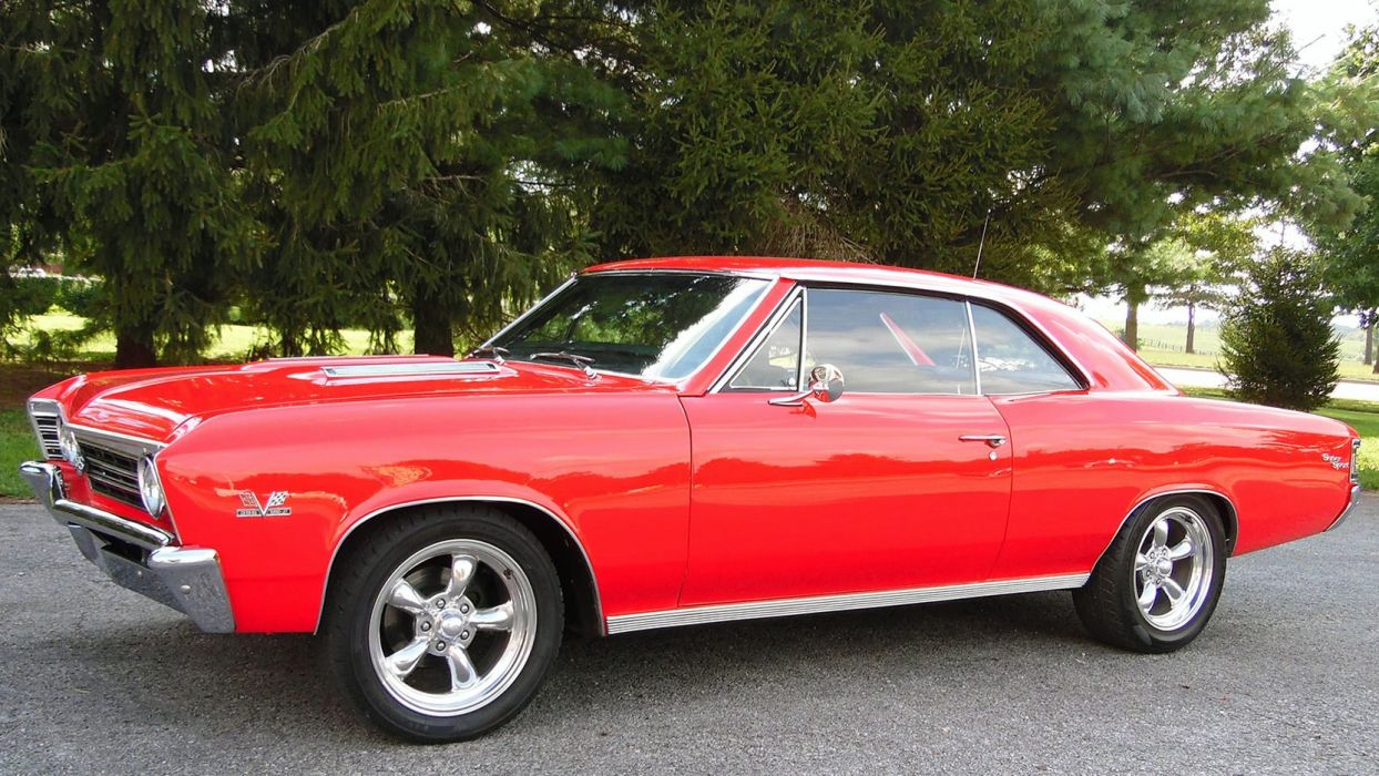 1967 CHEVROLET CHEVELLE SS cars red wallpaper