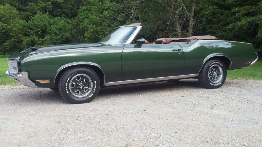 1972 OLDSMOBILE CUTLASS SUPREME CONVERTIBLE cars green wallpaper