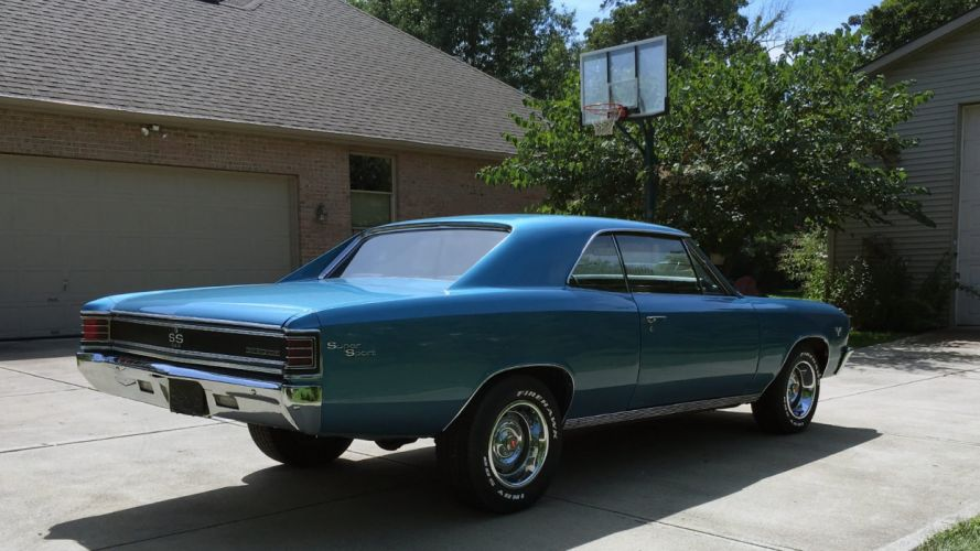 1967 CHEVROLET CHEVELLE cars blue coupe wallpaper