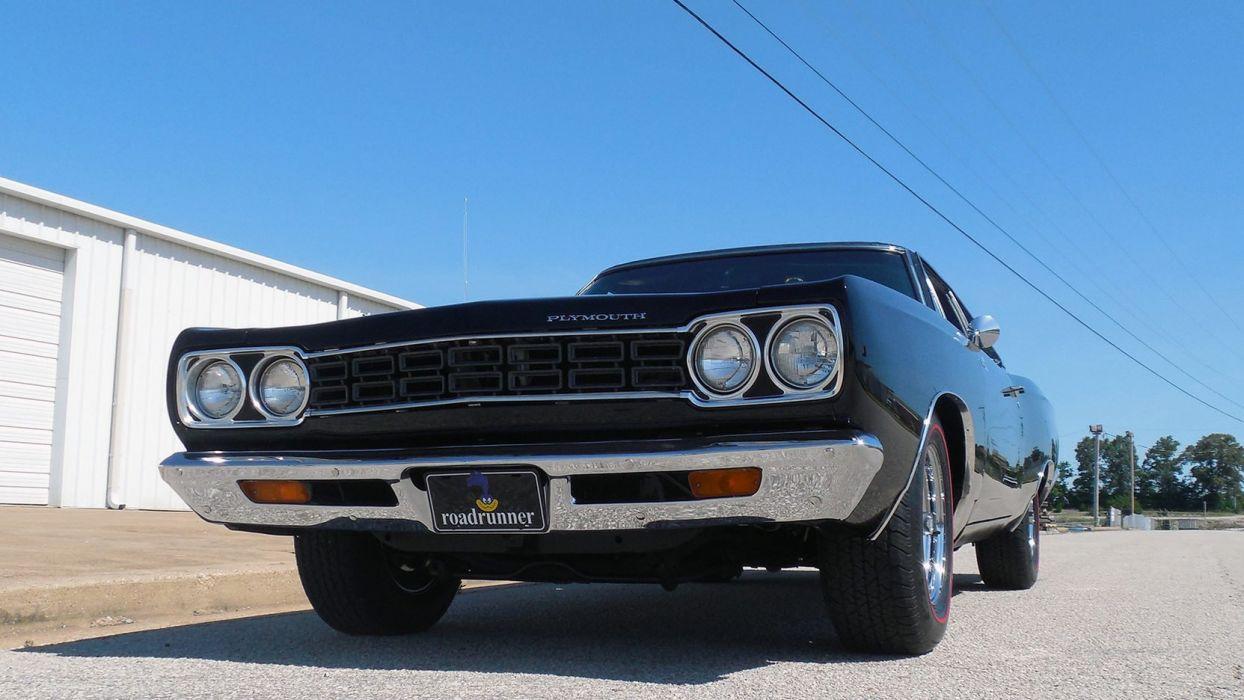 1968 PLYMOUTH ROAD RUNNER cars black wallpaper