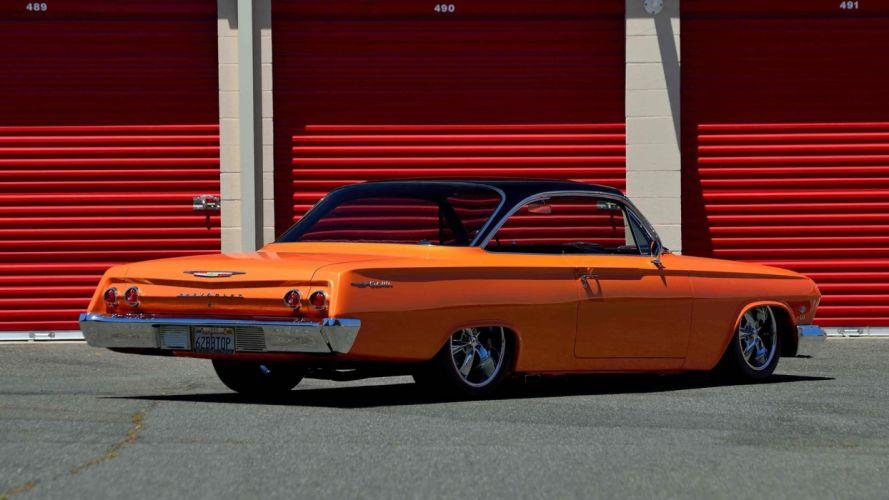 1962 CHEVROLET BEL AIR cars orange modified wallpaper