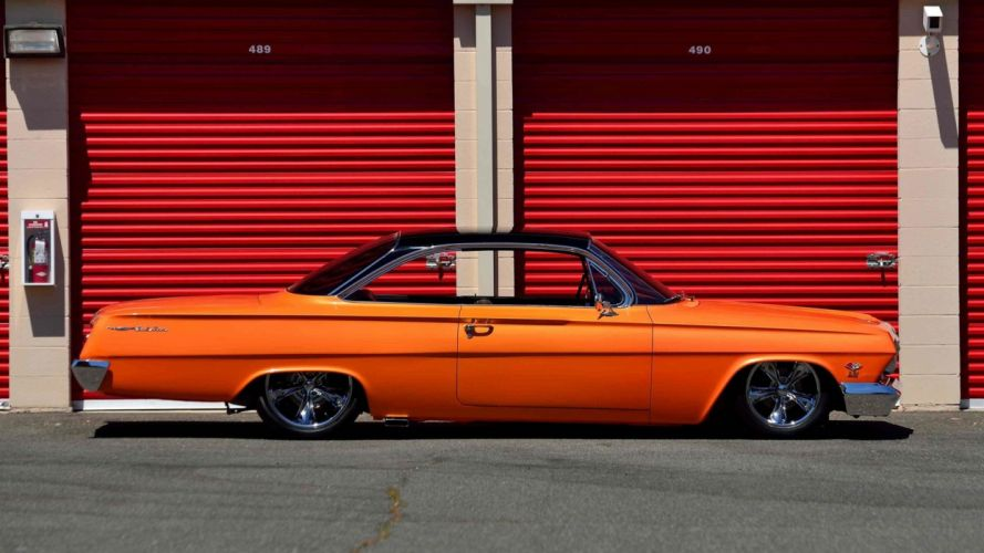 1962 CHEVROLET BEL AIR cars orange modified wallpaper