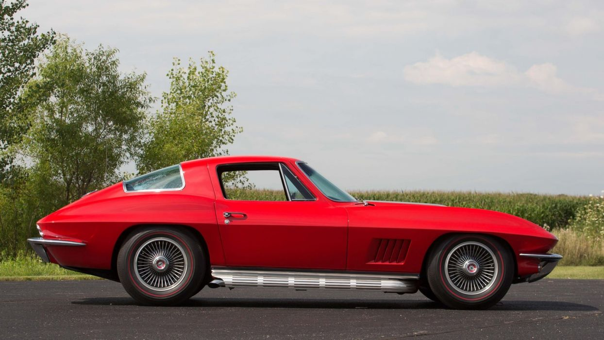 1967 CHEVROLET CORVETTE COUPE (c2) cars red wallpaper