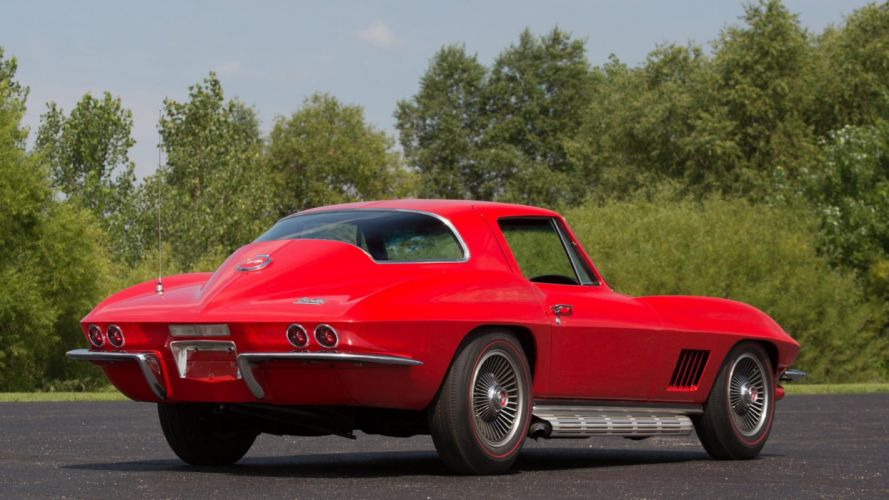 1967 CHEVROLET CORVETTE COUPE (c2) cars red wallpaper