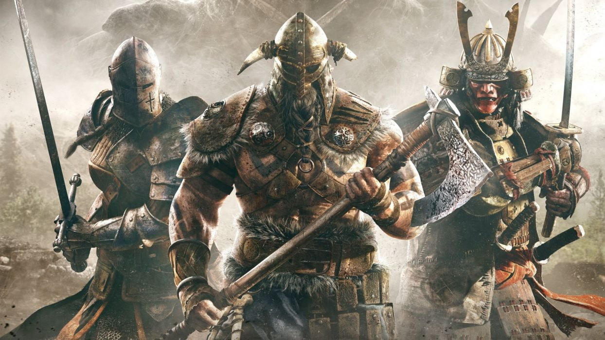 FOR HONOR game video 1fhonor action artwork battle fantasy fighting knight medieval samurai ubisoft viking warrior wallpaper