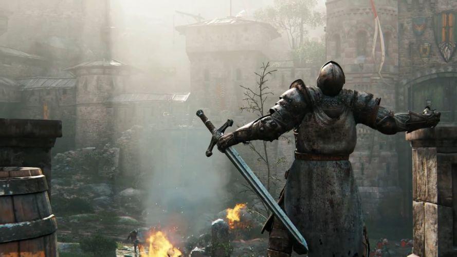 FOR HONOR game video 1fhonor action artwork battle fantasy fighting knight medieval samurai ubisoft viking warrior wallpaper