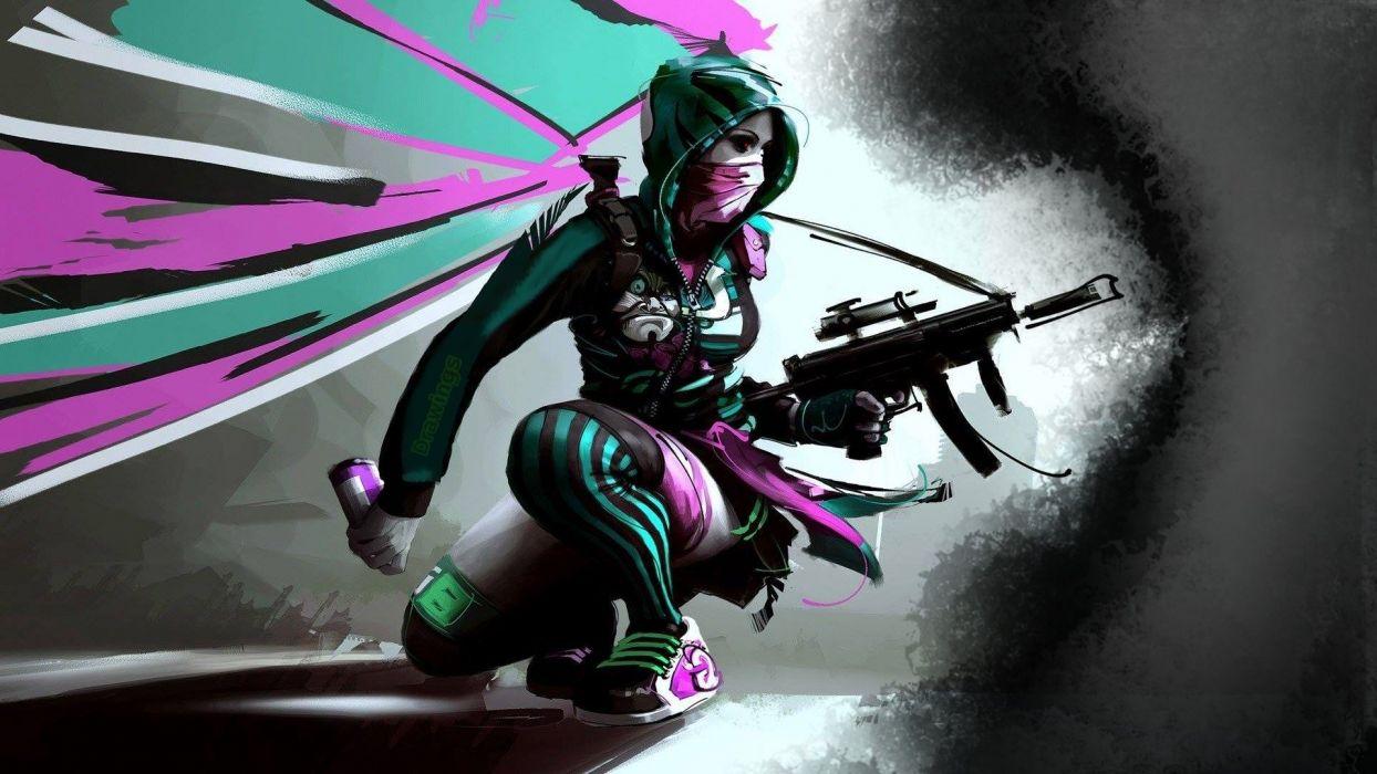 girl-gun-nightcore-gray-urbanstyle-urban-mask- wallpaper