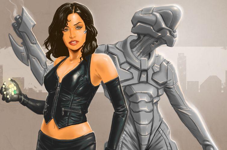 abstracto sci-fi mujer alien wallpaper