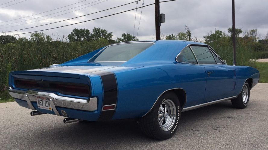 1970 DODGE CHARGER 500 cars muscle blue wallpaper