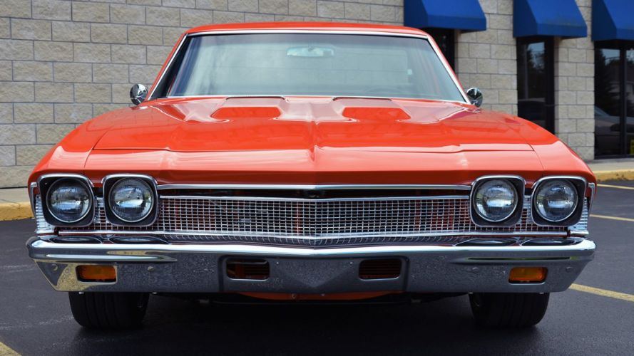 1968 CHEVROLET EL CAMINO SS PRO TOURING pickup cars orange wallpaper