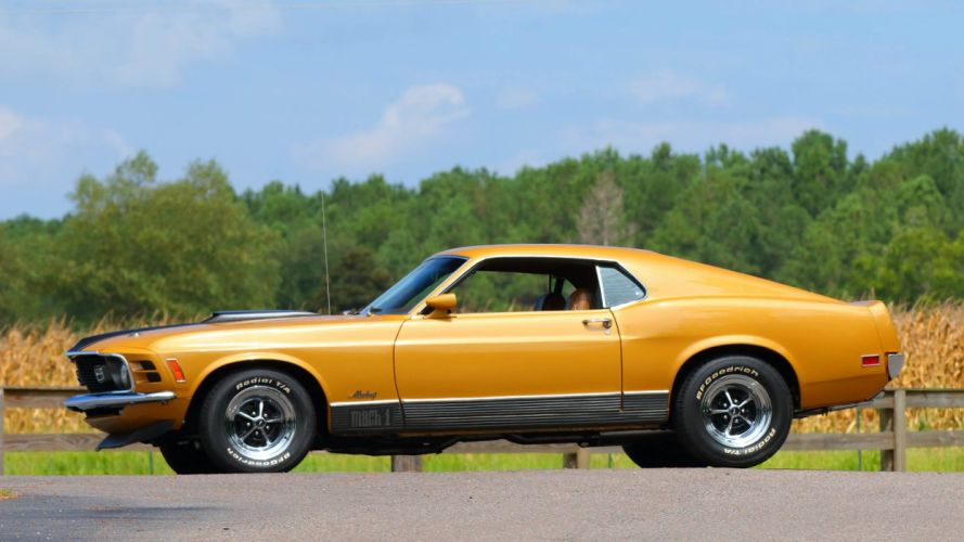 1970 FORD MUSTANG MACH 1 FASTBACK cars wallpaper