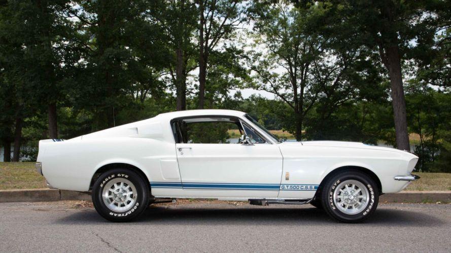 1967 FORD GT500 SUPER SNAKE cars fastback white wallpaper