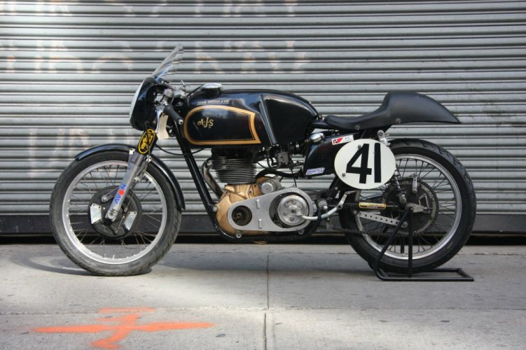AJS motorcycle motorbike bike classic vintage retro race racing british wallpaper
