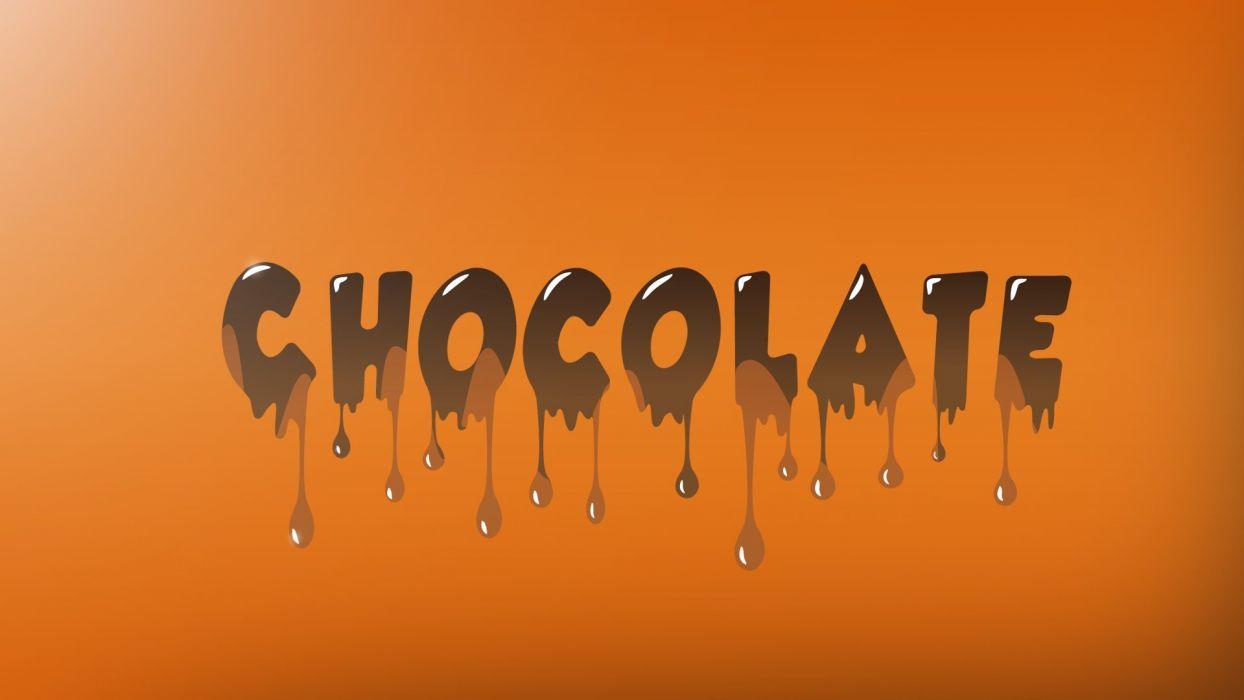 abstracto texto chocolate wallpaper