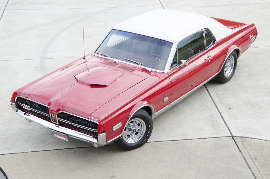 1968 Mercury Cougar GT-E cars classic red wallpaper