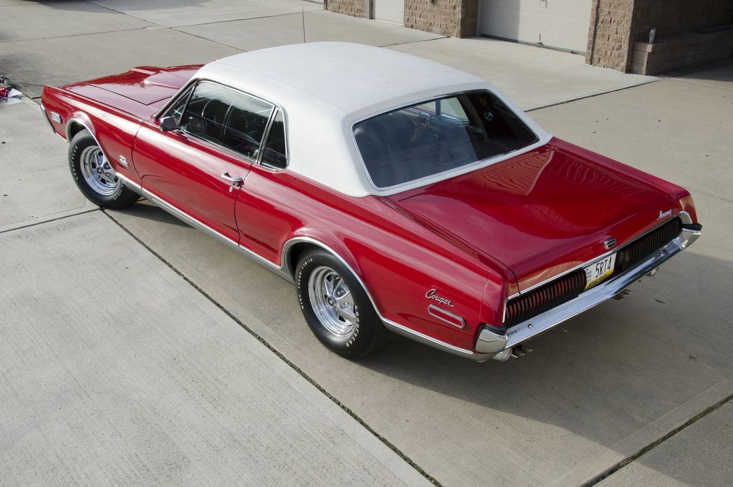 1968 Mercury Cougar GT-E cars classic red wallpaper