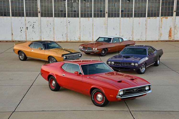 1971 ford mustang 429 super cobra jet cars wallpaper