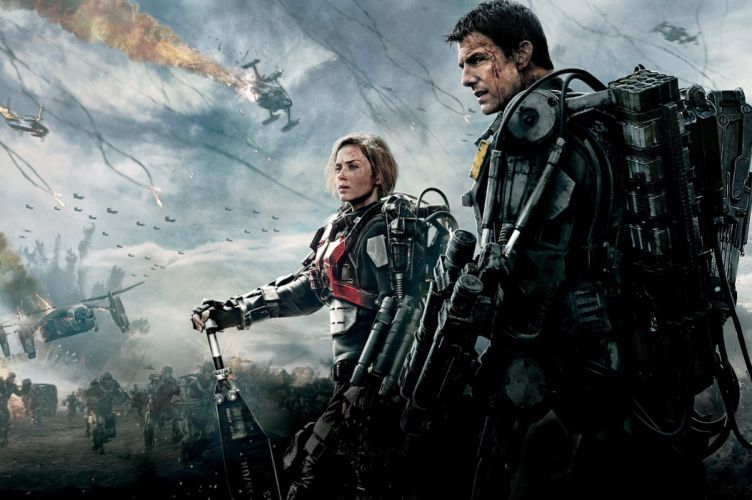 EDGE OF TOMORROW action militar ysci-fi thriller warrior futuristic science fiction technics cruise wallpaper