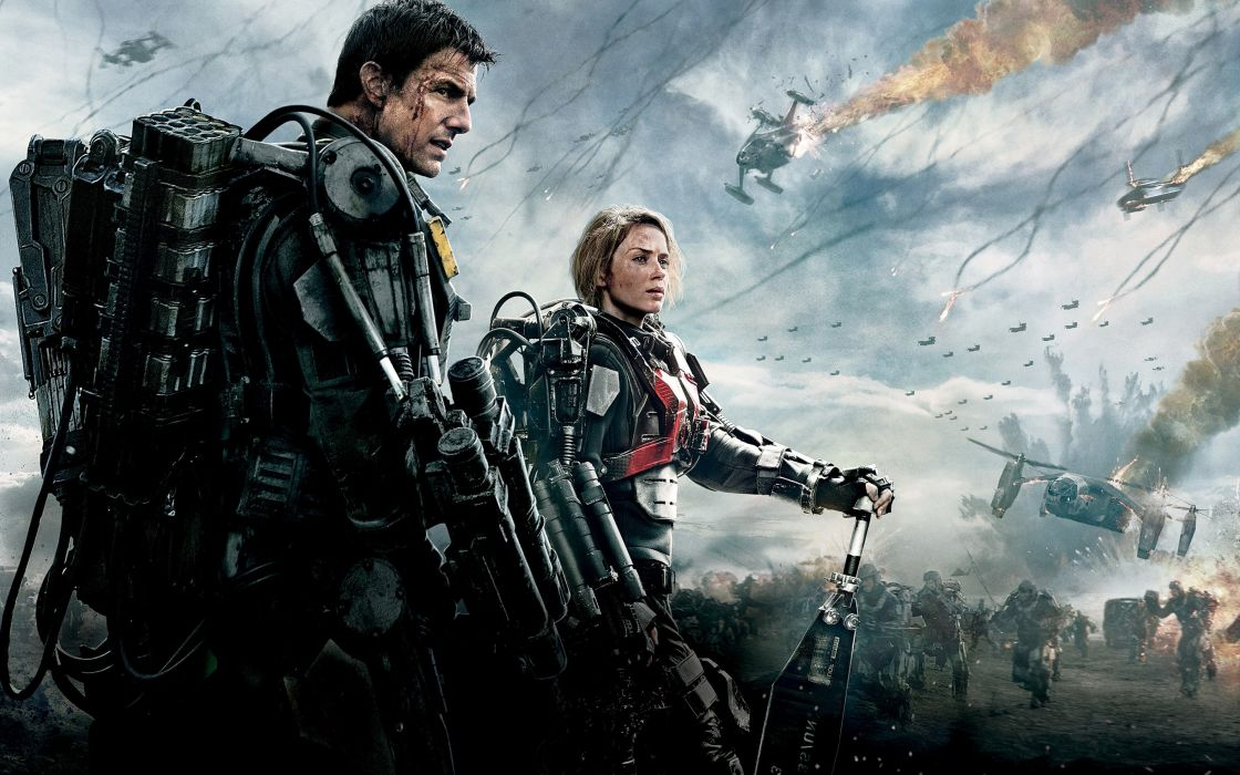 EDGE OF TOMORROW action militar ysci-fi thriller warrior futuristic science fiction technics cruise wallpaper