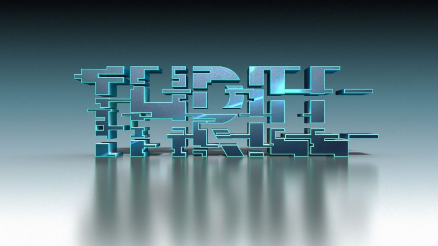 abstracto texto 3d trpiee wallpaper