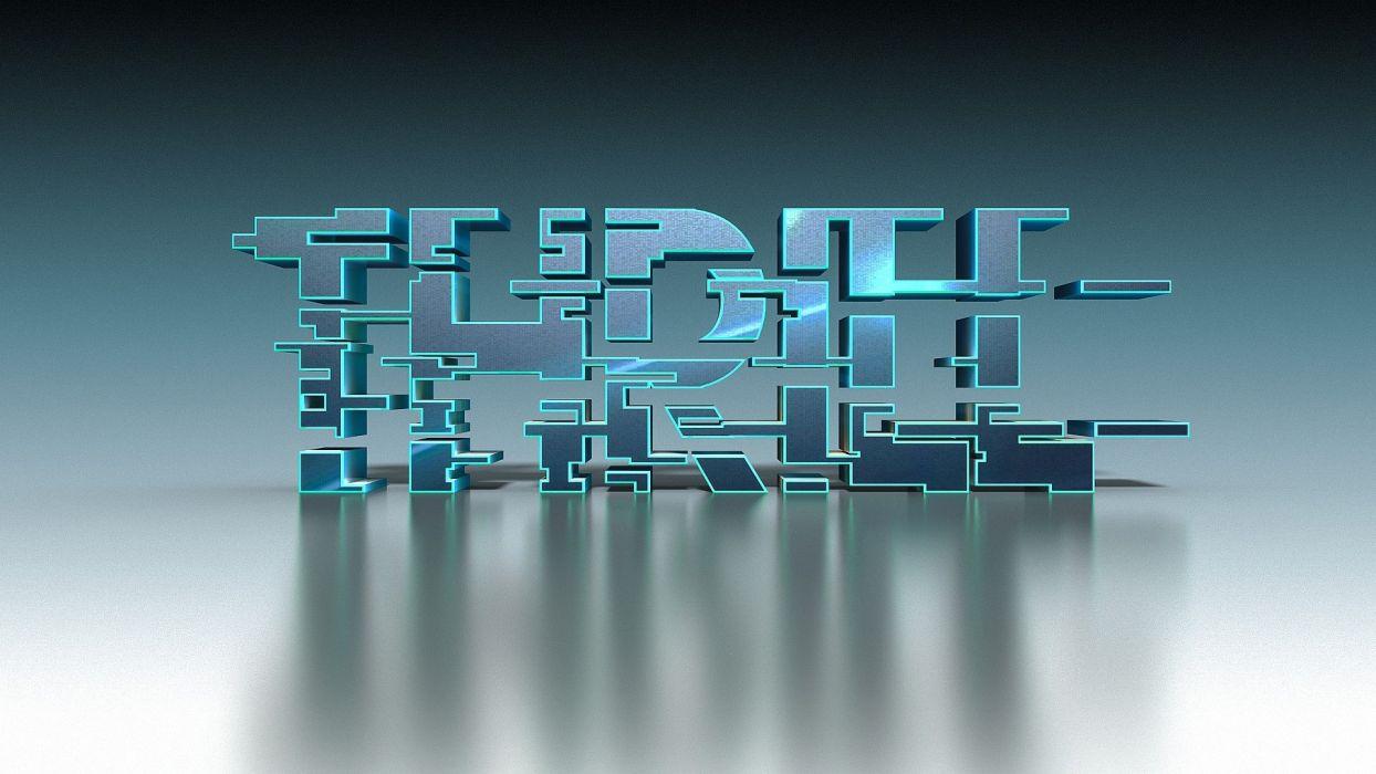 abstracto texto 3d trpiee wallpaper